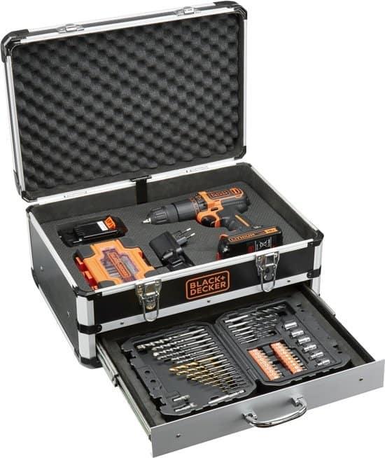 BLACK+DECKER BDC718AS2F Accu klopboormachine - 18V - incl. 2 accu's - 80 accessoires
