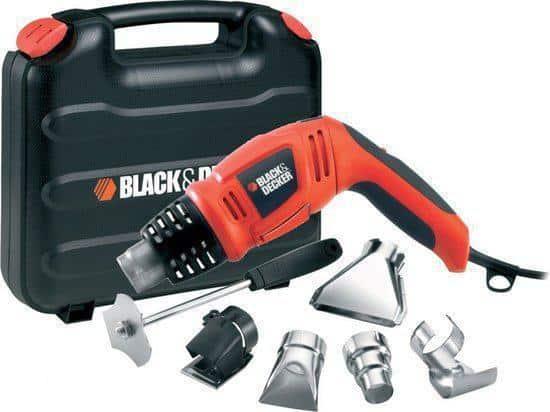 BLACK+DECKER KX1693 Heteluchtpistool - 1800 W - Incl. koffer - Incl. 4 mondstukken