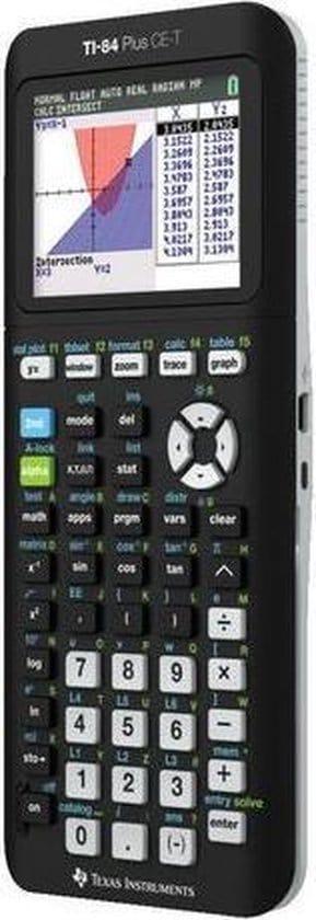 Texas Instruments TI 84-Plus CE-T - Kleurenscherm / Zwart