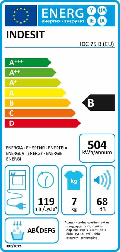 Indesit IDC 75 B (EU) - Condensdroger