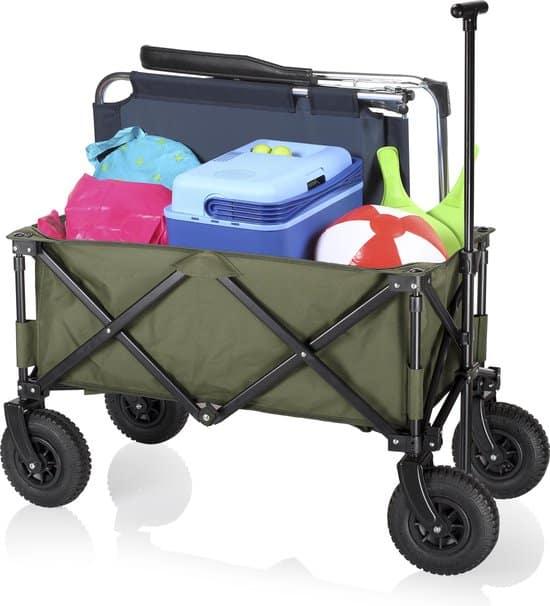 Campart HC0915 Opvouwbare bolderwagen – Legergroen