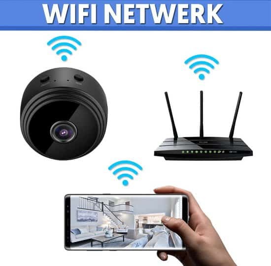 PIXMY® Smart Spy Camera 300mAh - Verborgen Camera - Mini Camera - Spy Cam - WiFi 1080 HD - Incl. SD kaart 128GB Adapter Kaartlezer -
