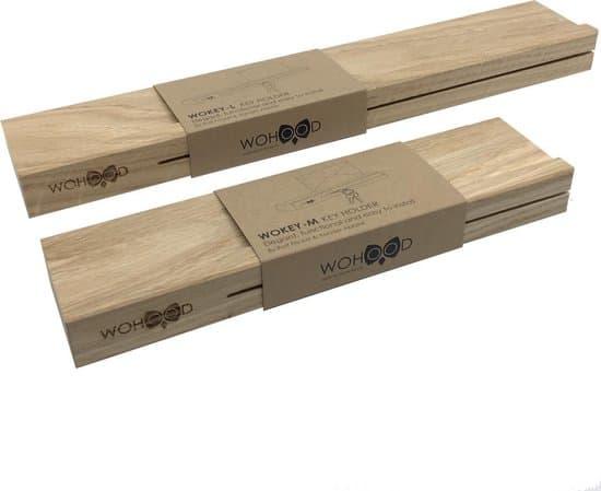 WOKEY-M | Sleutel rekje | Eiken Hout | Sleutel kastje | Wanddecoratie | Sleutelhanger
