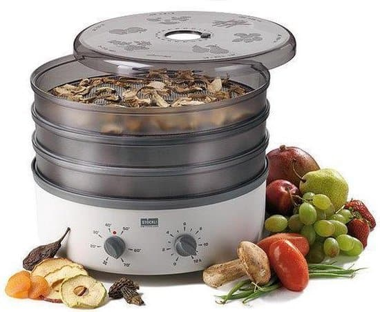 Stöckli Ovens Dehydrator Voedseldroger met 3 Metaal Roosters en Tijdsklok